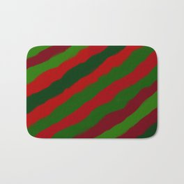 Red and Green Christmas Wrapping Paper Bath Mat