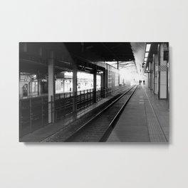 Nagano Train Tracks Metal Print