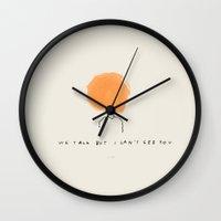 technology Wall Clocks featuring Modern Technology by Melody Hansen
