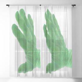 support, green Sheer Curtain