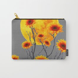 Red Gold Color Fantasy Sunflowers  Flowers Moon  Art Carry-All Pouch