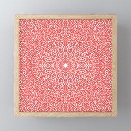 Pink Dot Dot Mandala Framed Mini Art Print
