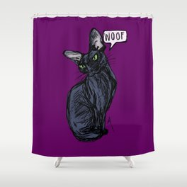 Anything But Meow Shower Curtain