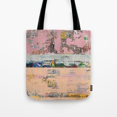 Dogbane Pink Abstract Painting Print Tote Bag