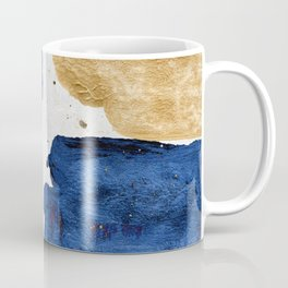 Gold and Navy Blue paint Coffee Mug