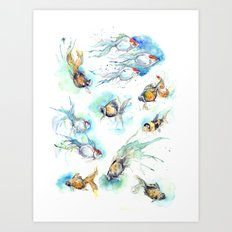 Goldfish Series - The Full Collection  Art Print