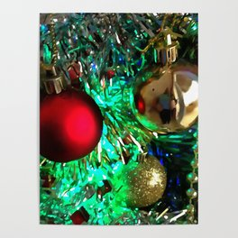 Baubles, Beads and Tinsel Holiday Decor Poster