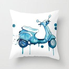 Scooter Away Throw Pillow