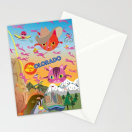 Mews and the state Colorado Stationery Cards