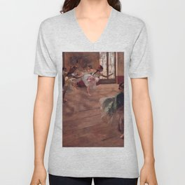 "Edgar Degas ""The Rehearsal"" Unisex V-Neck"