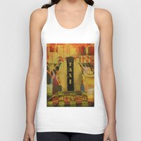 taxi driver Tank Tops featuring Taxi Driver by David Amblard
