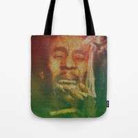 marley Tote Bags featuring Marley by Robotic Ewe
