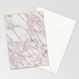 White Marble Carrara Calacatta Stationery Cards