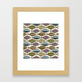 Alaskan halibut pearl Framed Art Print