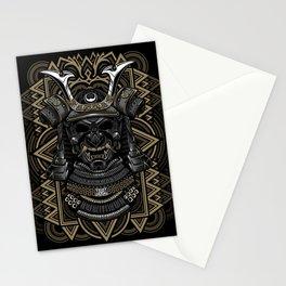Samurai mask Stationery Cards