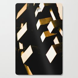 Rose Gold Bronze Abstract Geometric Mechanical Gears Cutting Board