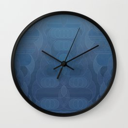 Round and About Blue Gray Wall Clock