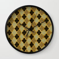 moroccan Wall Clocks featuring Moroccan  by Zetanueta