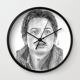 Marty McFly Portrait Wall Clock