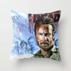 Walking Dead: Rick and the tribe Throw Pillow