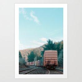 Parked Train Art Print