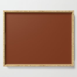 Solid Dark Blood Red Color Serving Tray