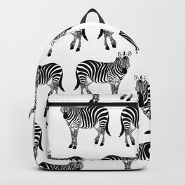 Zebra, Animal, Cute, Nursery, Kids, Minimal, Pattern, Modern art Backpack