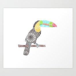 Toucan Circle Art Art Print