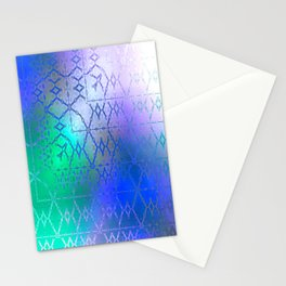 Summer of Retro (blue-green-purple) Stationery Cards