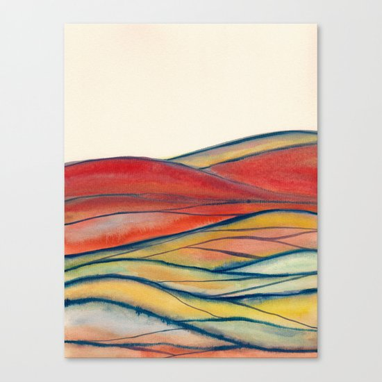 Watercolor abstract landscape 28 Canvas Print