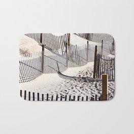 Beach Fences and Shadows Bath Mat