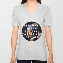 Step with a Pearl Earring Unisex V-Neck