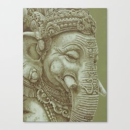 Ganesh green Canvas Print