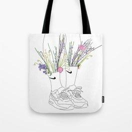 flowers sneakers v2 white Tote Bag