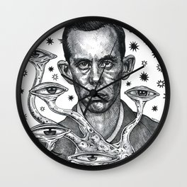 Dorf The Intergalactic Inquisitor from Planet X Wall Clock
