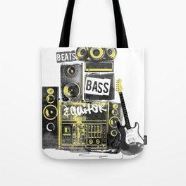 Beats, Bass & Guitar. Tote Bag