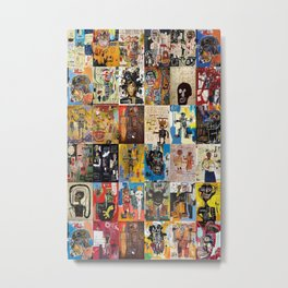 Basquiat Montage Metal Print