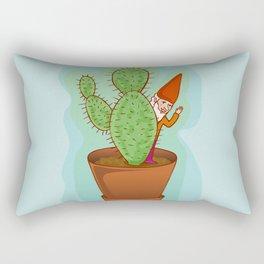 fairytale dwarf with cactus Rectangular Pillow
