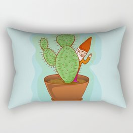 fairytale dwarf with cactus Rectangular Pillow