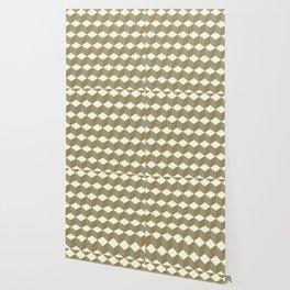 Diamond Repeating Pattern In Meerkat Brown and Grey Wallpaper