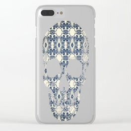 Antique Screaming Skulls Clear iPhone Case