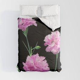 Pinks on Black Comforters