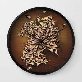 Tiger's Eye Wall Clock