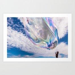 Bubble Touch Art Print