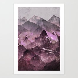 Quartz Mountains Art Print