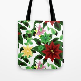 Poinsettia v2 pattern Tote Bag