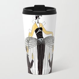 "Art Deco Design ""Improvised Cage"" by Erté Travel Mug"