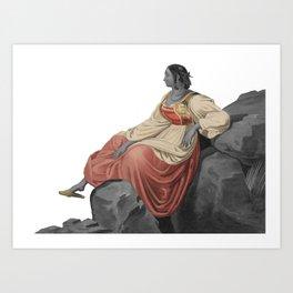 Sardinian woman Art Print