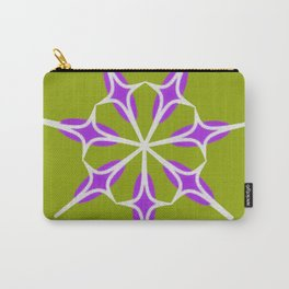 Retro Star on Lime Green Background Carry-All Pouch