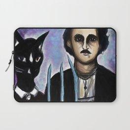 Edgar Allen Poe and Black Cat Laptop Sleeve